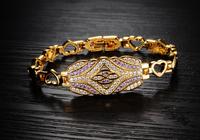 Best GIFT  CZ 18K GOLD Cuff Bracelet Pulsera Reglable arany oro Armband