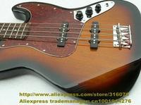 Sunburst Sunset Color Rosewood Fingerboard Basswood Top S-S 2 Pickups Silver Hardware 22 Frets Electric Bass Guitar No.0019-30
