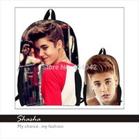 Fashion 3D backpack women famous brands Justin Bieber shoulder bag men's minecraft backpacks girls school bags boys bolsas