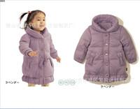 2014 New Arrival Children Girl Clothing Long Sleeve Pattern Printed Girl  Coat  Free Shipping  K6111