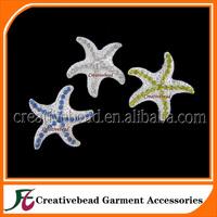 Free Shipping Diamante Wedding Brooch Starfish Bridal Brooch Bouquet Brooch Pin 35mm Silver Plated