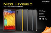 High Quality SGP Neo Hybrid Slim Armor SPIGEN Case For Samsung Galaxy Note 3 N9000 Note 2 N7100 Case Bag TPU+PC Hard Back Cover