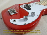 Red Maple Fretboard Candlenut Body Maple Neck Varnish Finish S-S 2 Pickups Chromeplate Hardware Electric Bass Guitar No.0019-32