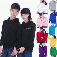 Fashion New Women Blank Plain hooded pullover sweatshirt Adult Hoodie Hoody 9 Color M L XL