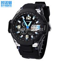2014 Men's Dual Time Display Diving Sport Watch 50M Waterproof Watch Luminous Alarm Clock Date Multifunction PU Strap Watches