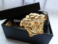 Hot sale V belt leather fashion men womens brand design belt with box