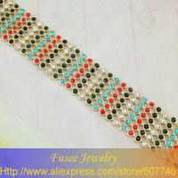 ISE00998-1 Fashion 18K gold plated Filled Wide bracelet
