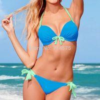 2014  Fashion Brand high quality Leopard sexy swimwear women push up bikini swimwear print bikinis seT 8002