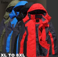 Lanluu New 2014 Winter Outerdoor Sport Wear Men Wadded Mountaineering Parkas Hooded Male Coat SQ889