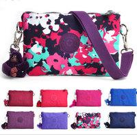 2014 NEW Designer Brand Casual coin purse Waterproof small nylon shoulder bag zipper clutch phone bag 6 Color