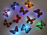 1pc/lot Beautiful Butterfly LED Night Light Lamp with Suction pad