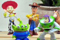 2014 Set of 5 pcs Toy Story party buzz Lightyear Woody Green Man Action Figures NEW
