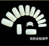 500pcs natural half cover acrylic false nails finger nail tips nail tools free shipping