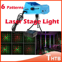 6 Patterns MINI RG Laser Projector LED Stage Lights Professional DJ Bar Club Disco Lighting Effect Home Party Show Moving Light