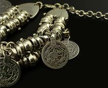 Punk Thick Bohemian Moon Child Turkish Silver Antalya Bracelet Moon Lovers Gypsy Beachy Chic Coachella Coin