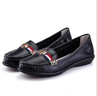 Genuine Leather women big famous brand  shoes,hot casual shoes,fashion women flat heel shoes,NEW 2014 shoes women
