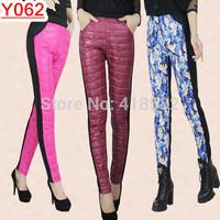 Y062-- 2015 Winter warm women leggings New Fashion 10 colors Eiderdown Long Pants Free shipping