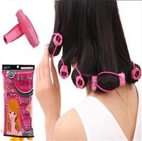 not hurt hair curling iron Curly hair artifact Sleeping beauty short sponge rollers Big pear flower hairdressing tools