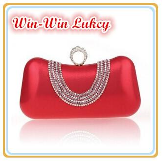 2014 Fall New Women's Bright PVC Evening Bag. Fashion Diamond Female Finger Rings Clutch Handbag. Wedding Purse Shoulder Bag(China (Mainland))