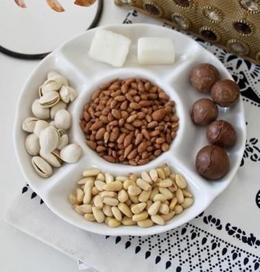 Cerâmica lanche prato sobremesa prato cinco grade sub- grade lanche bandeja pequena Caidie circular disco de pedra prato café(China (Mainland))