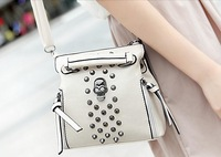 Best Selling  Women Skull Rivet Small Tactical Shoulder Bag  Messenger Bags Fashion Punk Unique  Design  Crossbody Bags