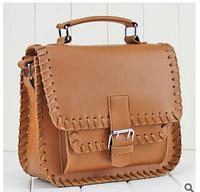 2014 new women messenger bag weave bags fashionable restore ancient ways women handbags PU leather shoulder bag bag bag