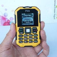 Yellow Q8 Unlocked mini Mobile phone single SIM card one standard SIM cell phone