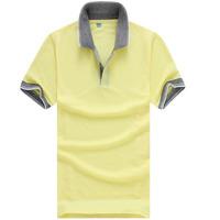 2014 Free shipping Plaid Collar Men Shirt Casaul Fashion Long Sleeve Polo Shirts  for Men Clothing Good Quality