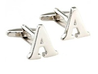 High quality A letter of French coin cufflinks for men Low Price Free shipping wholesale