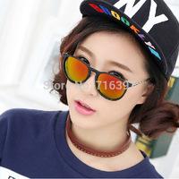 2015 New Arrival 4 Colors Men/Women Brand Design Retro Erika 4171 Sunglasses Round Frame Reflective Mirror Sports Sun glasses