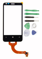 New Black OEM LCD Touch Screen Panel Digitizer Glass Lens Replacement Parts for Nokia Lumia 620+ Free Tools