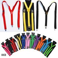 men women Weaving Belt Braces Stretch Adjustable Y Shaped Strap Clip Suspenders 100 pcs/lot free shipping