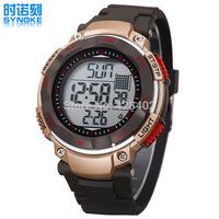 2014 Men's Large Dial Diving Sport Watch 50M Waterproof Watch Luminous Alarm Clock Date Multifunction PU Strap Watches