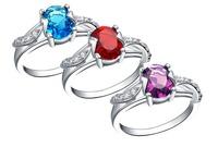 GEM Finger RINGE  3CT Diamant Rings Zircon Stone Wedding Rings  CircOnAN NEAUX  ANILLOS FASHHION JEWELR