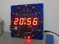 Electronic 2015 new MCU clock rotating red LED + red digital tube STC89C52 clock diy