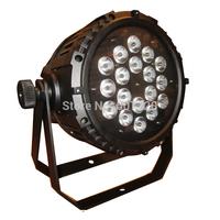 4pcs waterproof par 64  led par light 18pcs *10watts (4in1)  quad color RGBw  led par can DMX 8chls