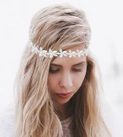 Elegance White Flower Rhinestones/pearl  Bridal Hairband  Wedding Headbands Girls Hairbands