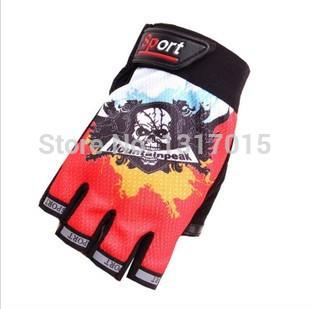 2015 Hot Sale Genuine Riding Gloves Skull Skeleton Joints Short Half-finger Gloves Mittens bike accessories Free Shipping(China (Mainland))