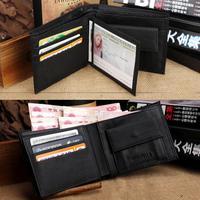 2014 NEW Brand Genuine Leather Men's Wallet Multifunctional Short Design Men Wallet Zipper Coin Purse Multi Card Holder