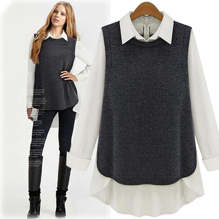 Free Shipping the new autumn fashion women's clothing collar chiffon T-shirt render unlined upper garment(China (Mainland))
