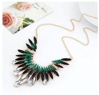 Shourouk Flower Punk Gold Plated Ethnic Gem Collar Choker Statement Necklaces & Pendants Fashion Jewelry Women Wholesale N117