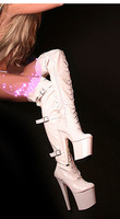 20cm / 20 cm high heels Hot sexy super sexy boots knee boots SM nightclub custom album