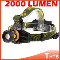 CREE XM-L XML T6 LED Headlamp LED Headlight headlamps head lamp light torch flashlight Waterproof 2000 Lumens