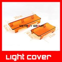 LED Work Light Bar Yellow Cover 15cm / 20cmLED Worklights Fog Light Cover Accessory for LED Drive Work Light New Arrival