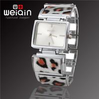 Top WEIQIN Brand Fashion Women Dress Leopard Bracelet Watch, Quality Assurance, Waterproof Stainless Steel Quartz Watch