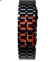 Free Shipping Fashion creative personality waterproof hot lava led watch vintage watch bracelet male couple, Ms.