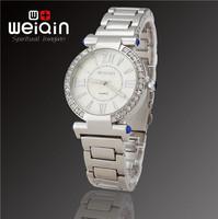 Hot Recommend WEIQIN Brand New Fashion Women Dress Rhinestone Decoration Waterproof Stainless Steel Quartz Watch