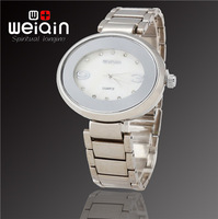 Hot Sale! WEIQIN Brand New Fashion Women Dress Bracelet Watch Waterproof Stainless Steel Quartz Watch, Free Shipping