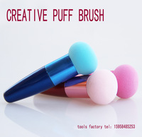 FREE SHIPPING Colorful Makeup Brushes Set Liquid Cream Foundation Sponge Brush Cosmetic Puff.MAKEUP TOOLS