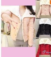 2014 New Arrival Regular Women's Fashion Big Lapel Winter Warmer Lambs Coat Wool Jacket Outwear Hot 3 Colors Free Shipping